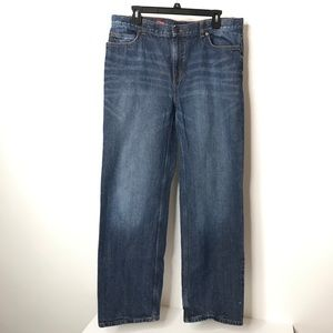 Lands End Boys Jeans 20H Relaxed Iron Knee
